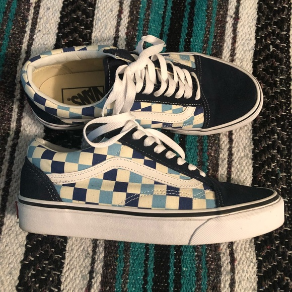 2dc5d43e712 Vans Old skool blue topaz checkerboard. M 5b9ae8b38ad2f9192de4d4d0